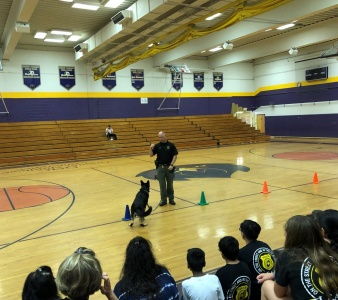 2019 LEAD Field Day K-9 demonstration by Middlesex County Sheriff's Office