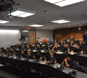 Monroe Township Police Youth Academy classroom training