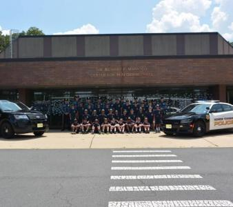 Monroe Township Police Youth Academy graduation photogaph