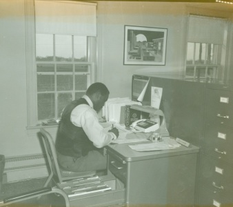 Lt. Charles Moore inside the old police headquarters