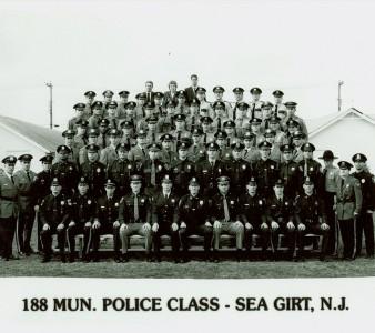 Municipal Police Class 188 Sea Girt, New Jersey